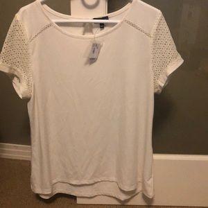 NWT The LImited top shirt cream fun sleeves XL